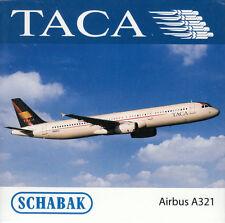 -  SCHABAK / SCHUCO  -  TACA A321  (Airbus)  -  1:600  -  3551492  -  NEU