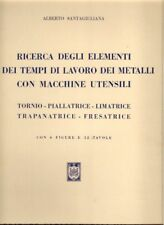 Ricerca elementi tempi lavoro metalli macchine HOEPLI ingegneria
