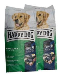 2x14kg Happy Dog Adult Maxi Hundefutter