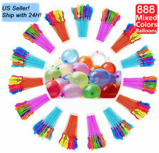 Us Seller! 888 pcs 24 Bunch Instant water Balloons, Self-Sealing,already tied