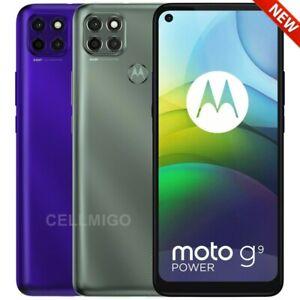 """Moto G9 Power (128GB + 64GB SD) 6.8"""" Dual SIM GSM US + Global Unlocked XT2091-4"""