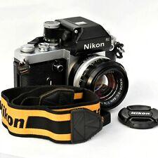 Nikon F2 Phot 35mm SLR Film Camera. DP1. W/ Nikkor SC 50mm f/1.4 Exc++++ Tested