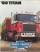 1980 Chevrolet Titan Truck/Tractor Sales Brochure