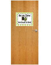 Be on Time Teacher's Classroom Sticker Color Wall Sticker Reusable 15x12