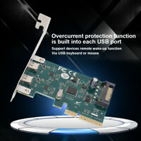 PCI-E USB Expansion Card Adapter SATA Double Type-c Interface Adapter Riser Card