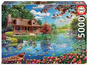 Educa 19056 - Little House on the Lake - 5000 pieces - Genuine Puzzle