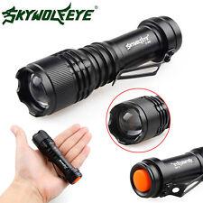 6000lm Mini XPE Q5 3 Modes LED tactique Zoomable lampe de poche torche