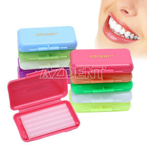 100X Dental 7 Scents Orthodontic Protector Wax For Braces Gum Irritation AZDENT
