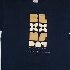 2015 Spokane Bloomsday run race finisher blue cotton ss t-shirt L Fruit of loom