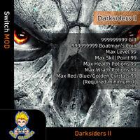 Darksiders 2 (Switch Mod) - Max Gilt/Coin/Level/Skill &Health &Wrath PT/Cyrstals
