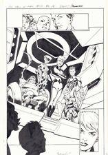 All-New X-Men #13 p.16 - Inhumans Splash - 2016 art by Mark Bagley Comic Art