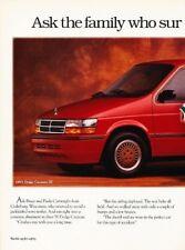 1993 Dodge Caravan Van Original 2-page Advertisement Print Art Car Ad J880