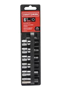 "Craftsman 6 Piece 3/8"" Drive 5/32"" to 3/8"" Hex Bit Socket Set, 934447, 34447 NEW"