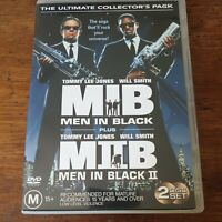 Men in Black 1 + 2 Ultimate Collector's Pack I II DVD R4 Like New! FREE POST