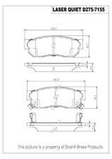 Disc Brake Pad Set-Laser Quiet Metallic Pads Front Pronto LMD275