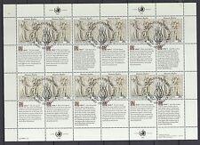 UNO New York 1990 gestempelt MiNr. 606-607  Bogensatz  Menschenrechte