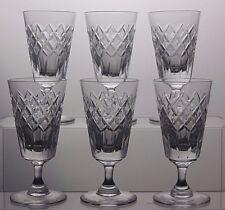 "TUDOR CRYSTAL ""LATIMER"" CUT GLASS SHERRY PORT GLASSES SET OF 6"