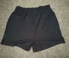 Boys Black Football / Sports Shorts - Size: 11 Years