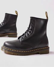 Doc Martens England Women Leather Heeled boots shoes Smooth Lace Up 8 Eyes New