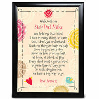 Personalised Step Dad Gifts Print Poem Birthday Fathers Day Christmas
