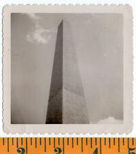 D.C. Washington Monument Upward View Clouds w No Context VINTAGE Photo SNAPSHOT