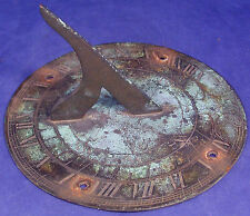 """Authentic 1800's Brass Sundial - """"Tyme Flies"""" - maybe early 1800's?"""