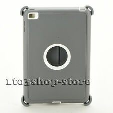 Defender Rugged Hard Shell Case fo iPad Mini 4 w/Otterbox Stand Cover Gray/White