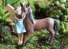 Chelle & Champ Fairy and her Pony Horse WS 1760 Miniature Fairy Garden Dollhouse