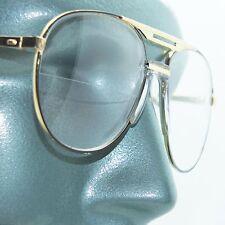 Aviator Traditional True Half Bifocal Reading Glasses +1.50 Black Gold Frame