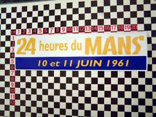 1961 Le Mans Sticker - Jaguar XK120 XK140 XK150 Aston Martin DB3 Porsche 356