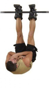 Gravity boots, bar hooks, sports, strength training