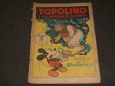 """ALBO D'ORO N.20 I° EDIZIONE 1946 TOPOLINO E LA LAMPADA DI ALADINO - BUONO """"U"""""""