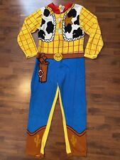 Mens Size Large Disney Toy Story Woody Fleece One Piece Pjs