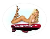 Sexy Tool Box Sticker Busty babe Bud Beer Blimp busty blonde bar Girl Toolbox