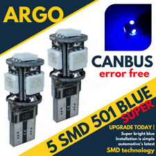 Ford Fiesta Sidelight Blue ST 501 5 Smd Led Error Free Canbus Hatchback Bulbs