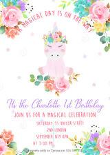 10 X A6 Cute Personalised Birthday Invitations