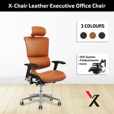 Leather X4 Chair Premium Office Home Executive Task Gaming Chairs With Head Rest