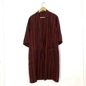 Vintage Pendleton Wool Red Vertical Stripped Robe Sz L