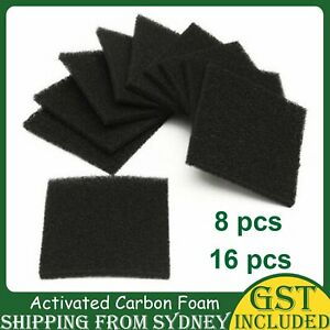 UP 16X Universal Activated Carbon Foam Sponge Fume Air Filter Impregnated Pads A