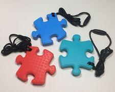 Sensory Chew Necklace Jigsaw Piece Autism SEN ADHD Biting Aid Fidget