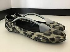 Tory Burch Patent Leather Vgc Size 9m Uk 7 Flats Ballerina Shoes Leopard Print