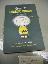 PEANUTS BOOK  GOOD OL' CHARLIE  BROWN  8th PRINT 1967 VINTAGE ORIGINAL