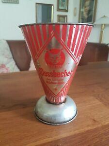 """Retro Antiker Original Messbecher von"""" Luchs"""" aus Metall Edelstahl"""