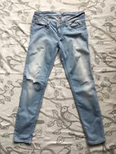 ONLY  helle Jeans Hose Größe 31/32 Damen Skinny Jeans used look stone washed