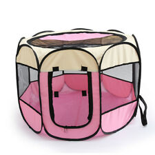 Pet 8 Panels Playpen Dog Cage Fence with Zipper Door for Cats Dogs Small Animals