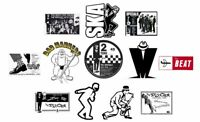 x12 80mm Ska Vinyl Stickers 2Tone specials madness selecter bad manners laptop