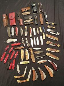 Konvolut Taschenmesser Über 50 Outdoor Camping Angler Messer Pilzmesser