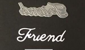 Britannia Dies - Friend - Word Card Making Metal Cutting Die Small Font