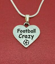 Football Necklace Show U love Footy crazy New Charm Pendant and Chain