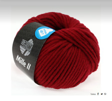 Lana Grossa Mille II 50g Waschmaschinenfest Color 09 = Rojo Vino